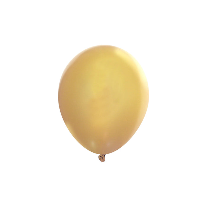 5 Inch Gold Balloons | Metallic Gold Latex Balloons | 144 pc bag