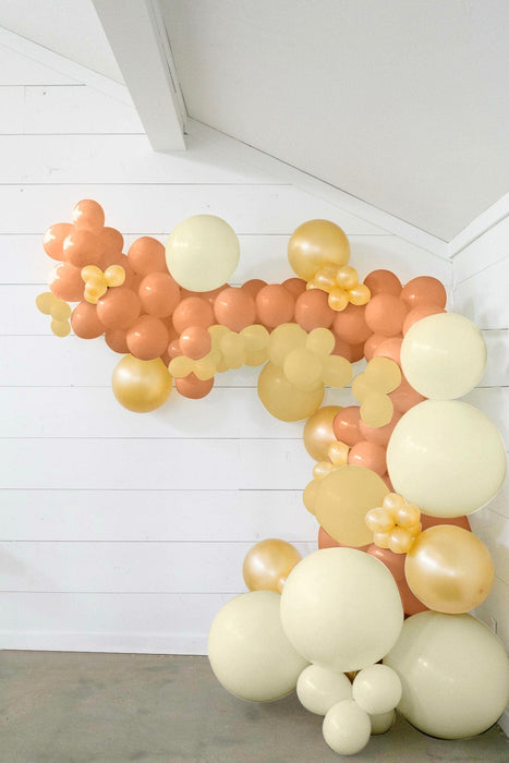 50-ft DIY Balloon Garland Kit with Rose Gold, Ivory & Metallic Gold Balloons
