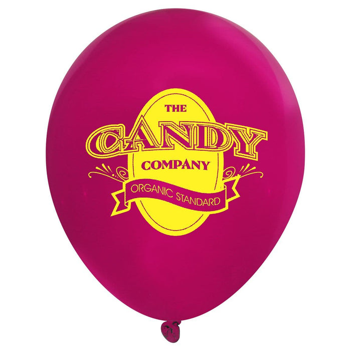 Custom Printed Latex Balloons | Crystal Colors | 1000 pc (per case)