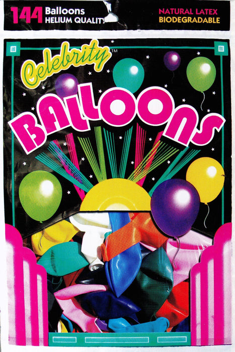 Bulk 12 Inch Latex Balloons | Pearlized Assortment | 144 pc bag x 10 bags