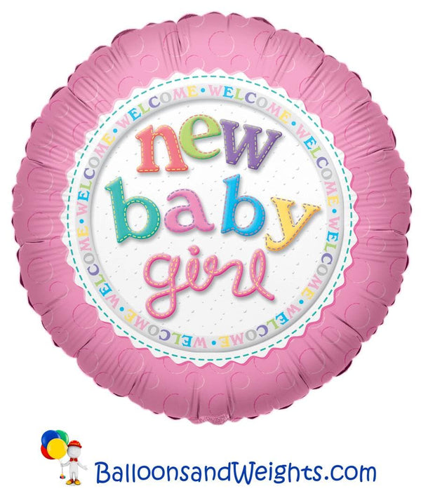 18 Inch New Baby Girl Foil Balloon | 100 pcs
