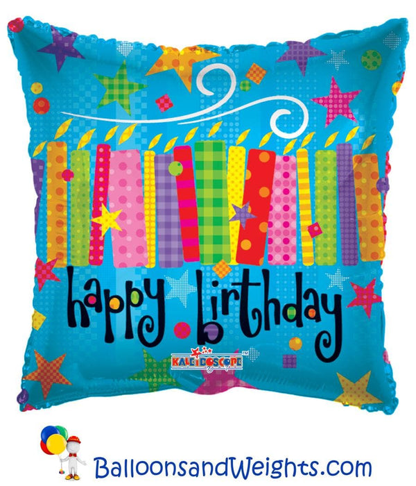 18 Inch Birthday Blow Candles Foil Balloon | 100 pcs