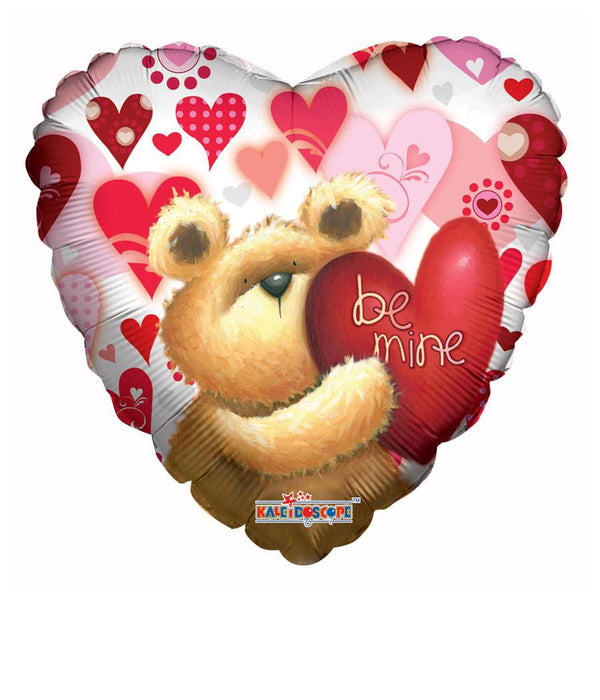 18 Inch Huggable Bear Be Mine Clearview Foil Balloon | 100 pcs