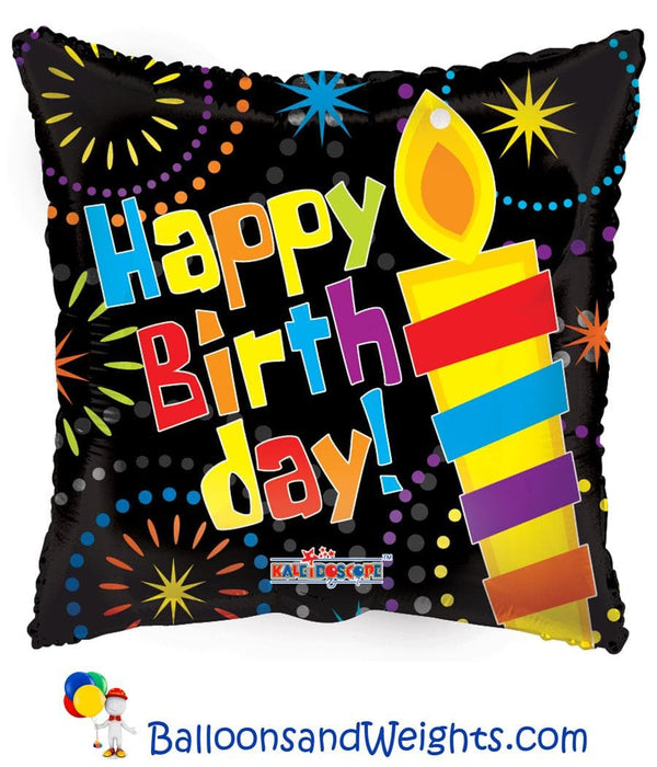 18 Inch Birthday Big Candle Foil Balloon | 100 pcs