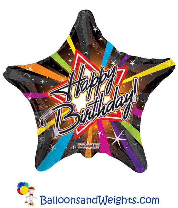 18 Inch Birthday Rockstar Foil Balloon | 100 pcs