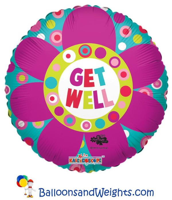 18 Inch Get Well Big Flower Foil Balloon | 100 pcs