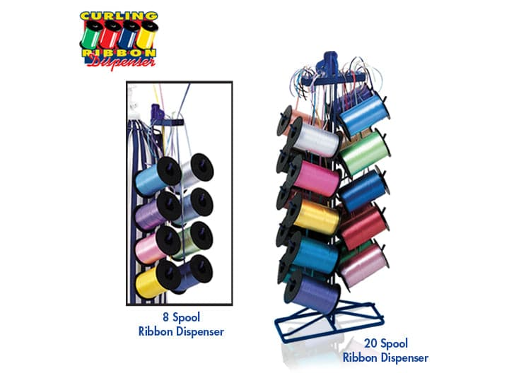 Balloon Ribbon Dispensers | Holds 8 - 20 Ribbon Spools