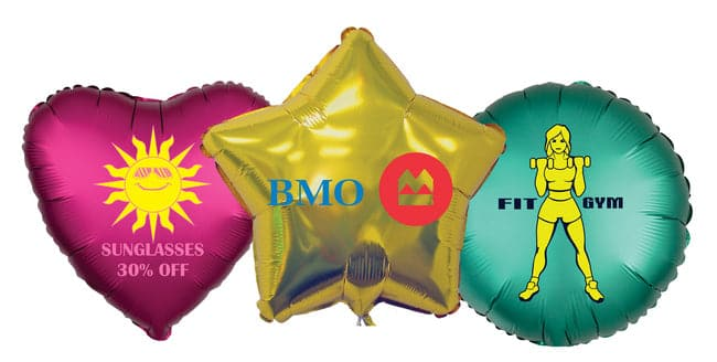 "Custom Printed 17"" Foil Balloons 