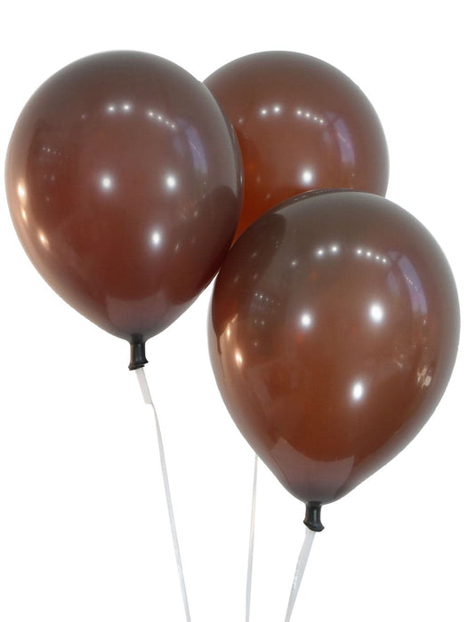 12 Inch Decorator Brown Latex Balloons | 100 pc bag