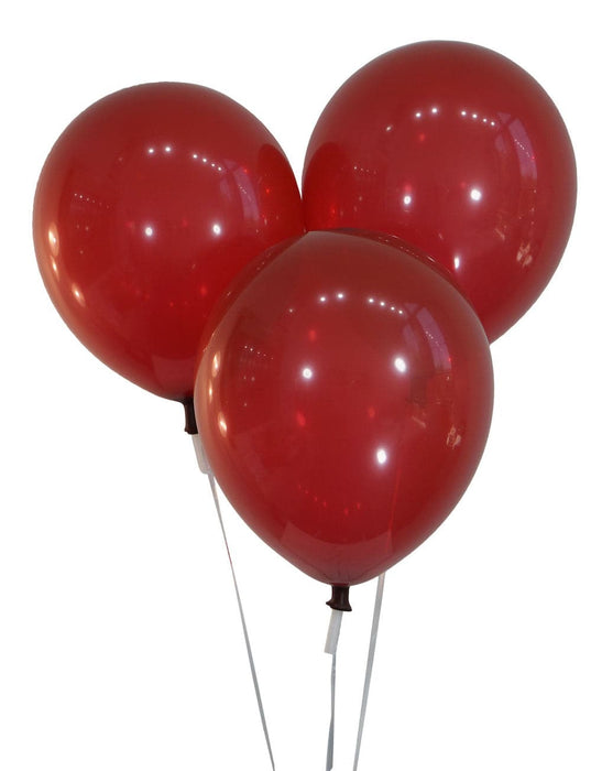 9 Inch Burgundy Wine Balloons | Decorator | 144 pc bag