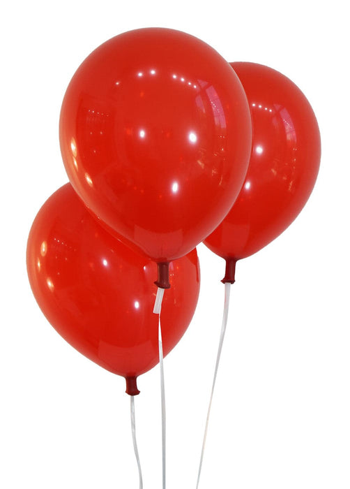 "Bulk 10"" Decorator Cherry Red Latex Balloons 