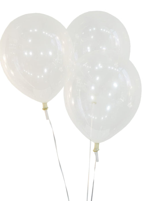 12 Inch Decorator Clear Latex Balloons | 144 pc bag