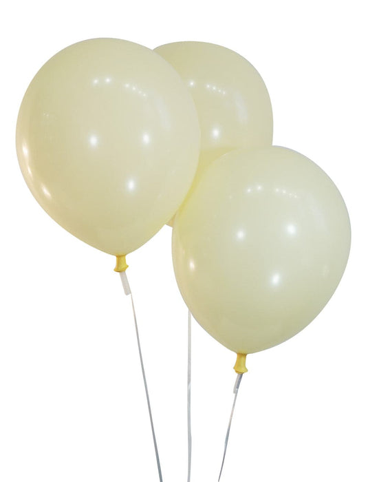 "Bulk 10"" Decorator Ivory White Latex Balloons 
