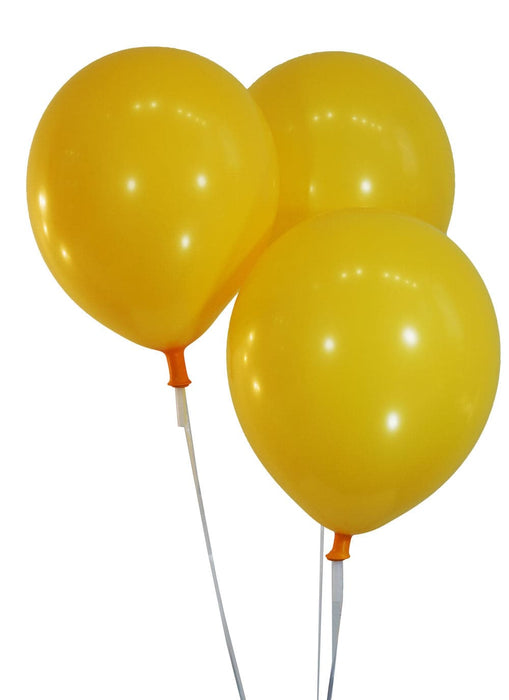 "Bulk 10"" Decorator Marigold Latex Balloons 