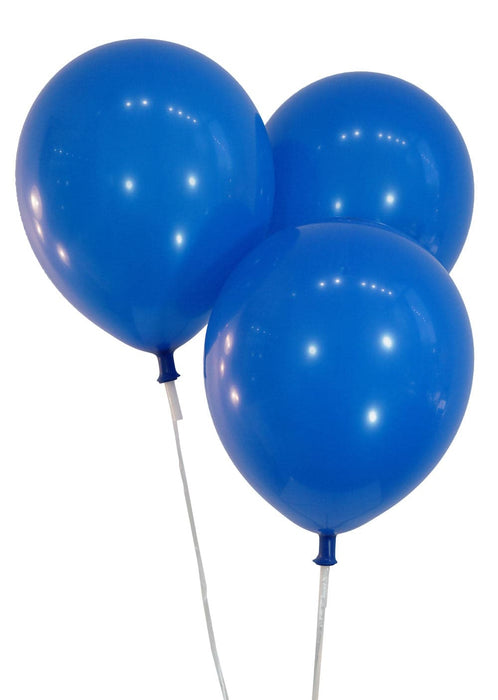9 Inch Latex Balloons | Decorator Royal Blue | 144 pc bag