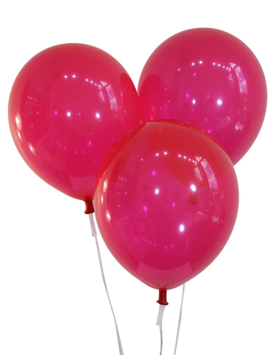 Wholesale 9 Inch Latex Balloons | Decorator Ruby Red | 144 pc bag x 50 bags