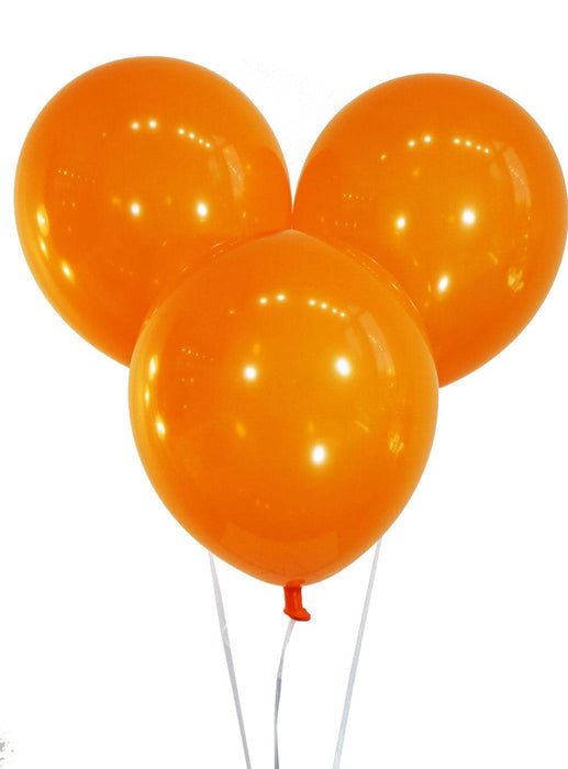 "10"" Sunburst Orange Latex Balloons 