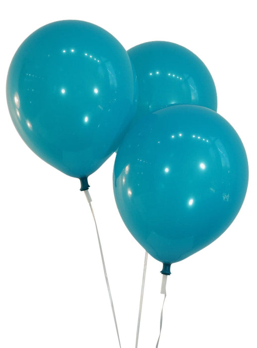 "Bulk 10"" Decorator Teal Latex Balloons 