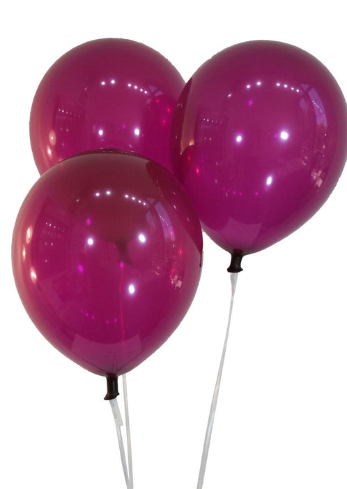 "Bulk 10"" Decorator Plum Latex Balloons 