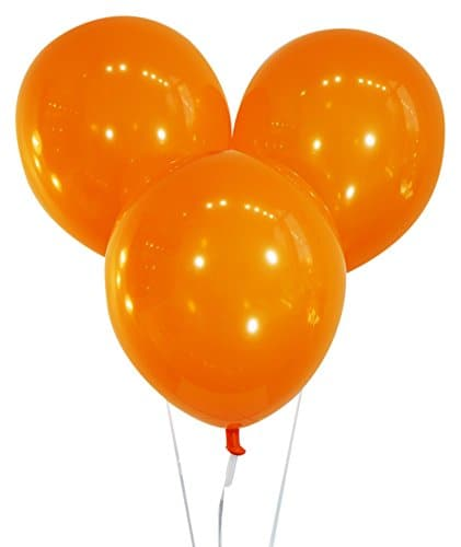 9 Inch Decorator Sunburst Orange Latex Balloons | 144 pc bag