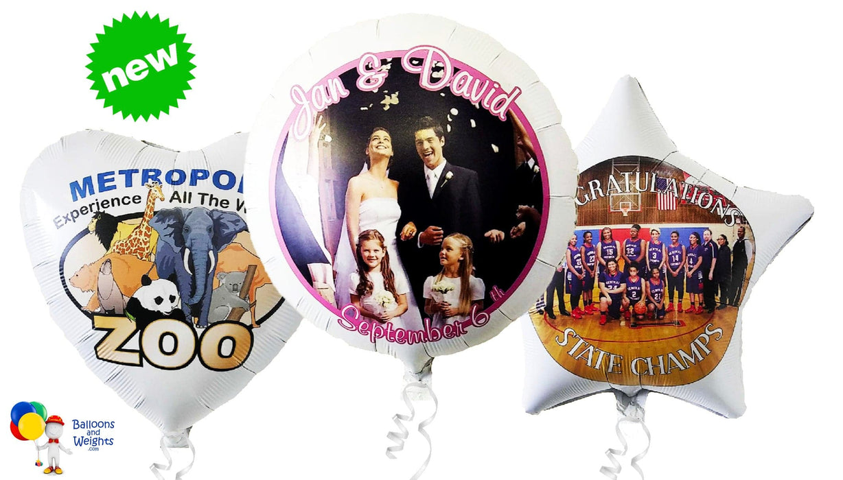 "Full Color Custom Printed 17"" Foil Balloons 