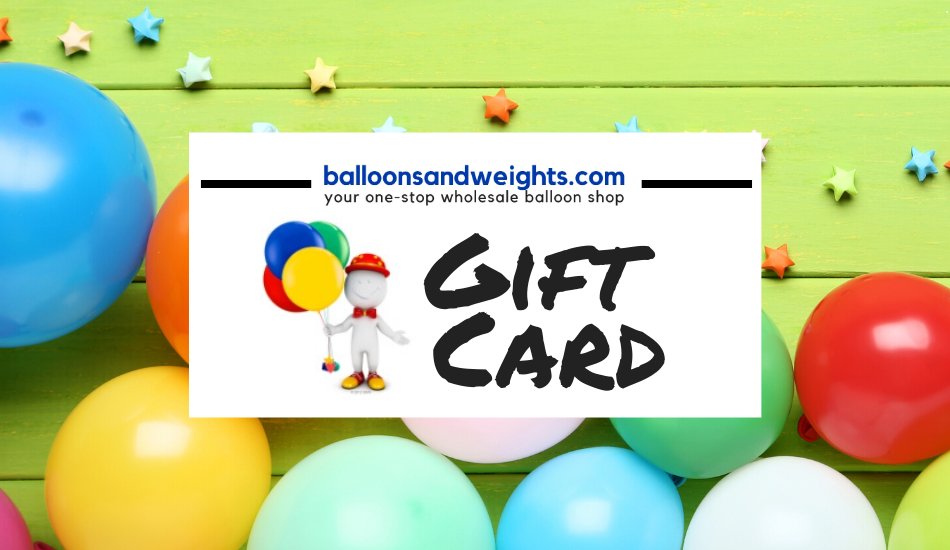 Balloons and Weights Digital Gift Card