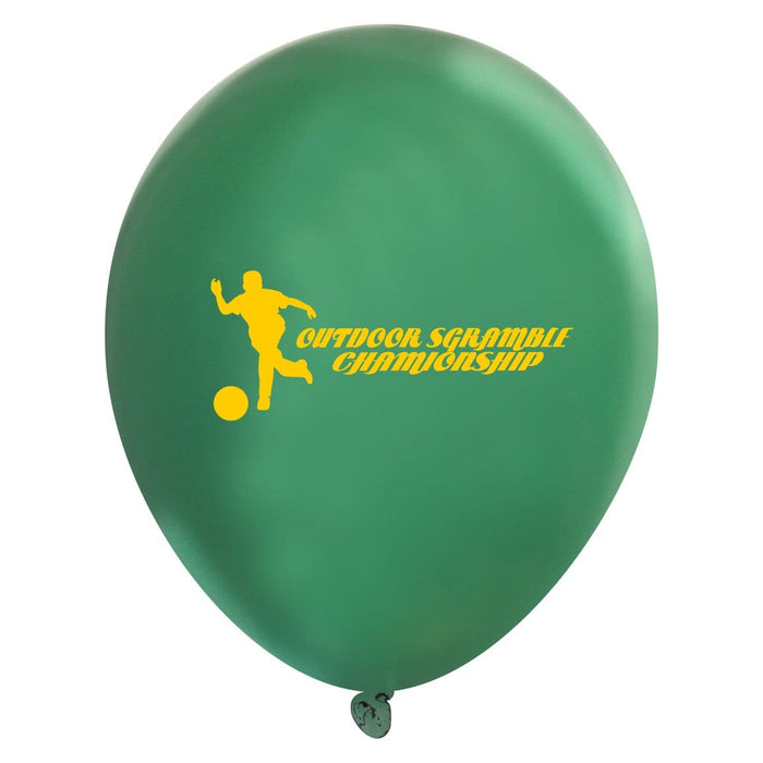 Custom Printed Valved Latex Balloons | Metallic Colors | 1,000 pcs