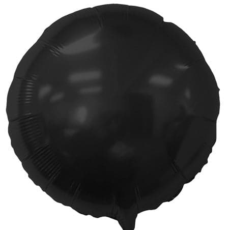 18 Inch Black Balloons | Round Foil Balloons | 50 pc