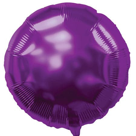 18 Inch Purple Balloons | Round Foil Balloons | 50 pc