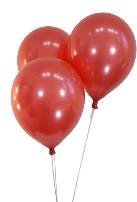 12 Inch Red Balloons | Metallic Cherry Red Latex Balloons | 144 pc bag