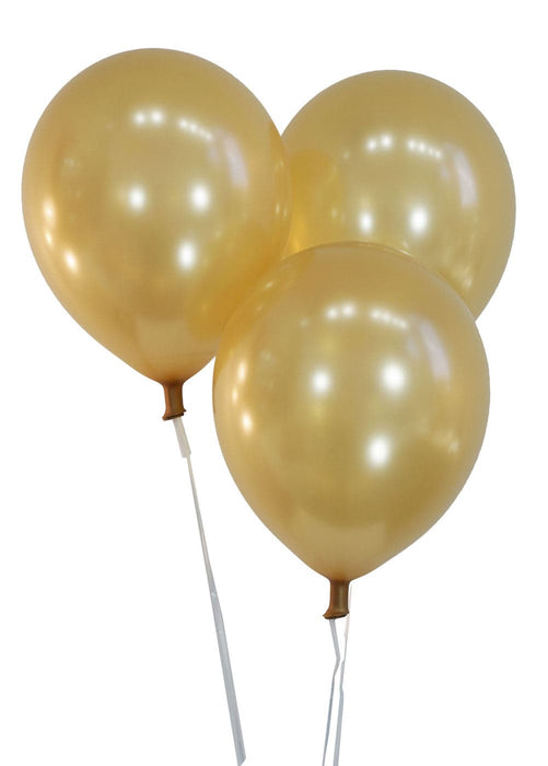 Bulk 9 Inch Latex Balloons | Metallic Gold | 144 pc bag x 10 bags