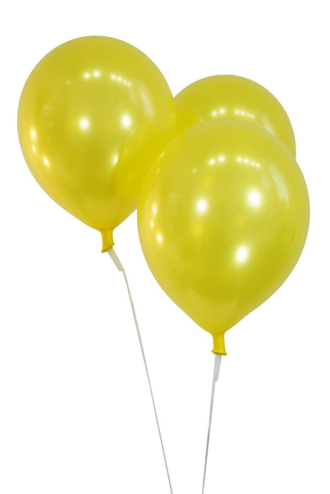 Bulk 12 Inch Latex Balloons | Metallic | Yellow | 144 pc bag x 10 bags