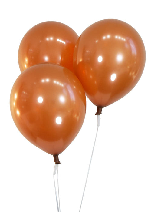 12 Inch Metallic Copper Latex Balloons | 144 pc bag
