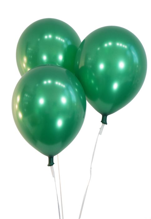 12 Inch Green Balloons | Metallic Green Latex Balloons | 144 pc bag