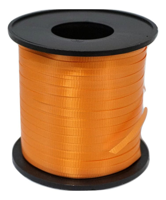 Orange Balloon Ribbon | 500 Yard Length Spool | 5 Spool Value Pack