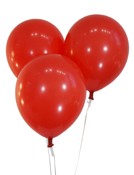 "Bulk 10"" Pastel Red Latex Balloons 