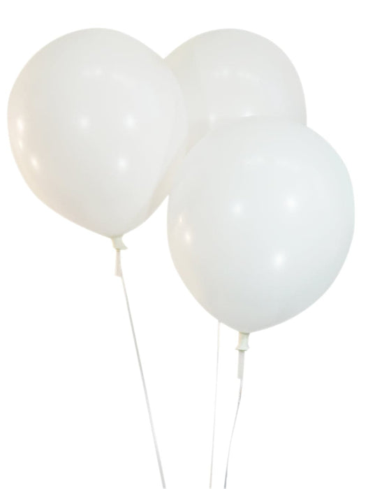 Wholesale 9 Inch Latex Balloons | Pastel White | 144 pc bag x 50 bags