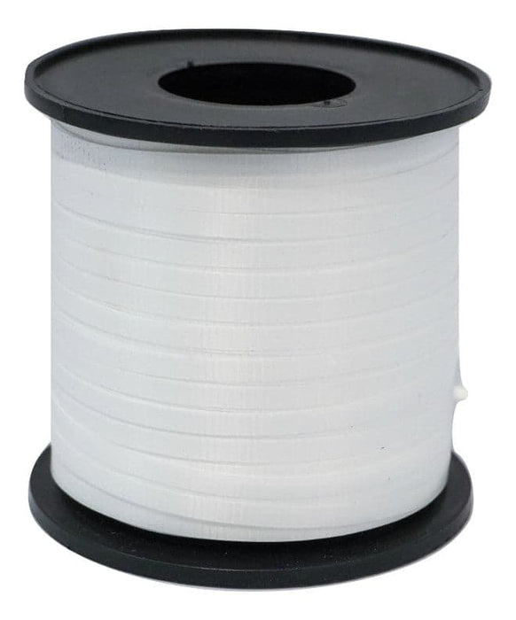 Pearl White Balloon Ribbon | 500 Yard Length Spool | 5 Spool Value Pack