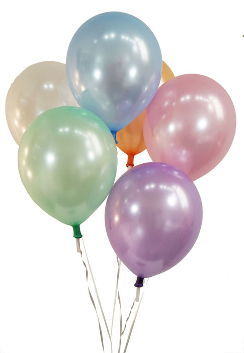 12 Inch Pearl Assortment Balloons | Pearlized Assortment Latex Balloons | 144 pc bag