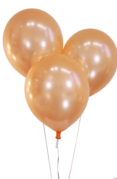 Wholesale 12 Inch Latex Balloons | Pearlized Peach | 144 pc bag x 25 bags