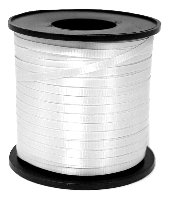 White Balloon Ribbon | 500 Yard Length Spool | 5 Spool Value Pack