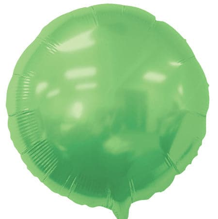 18 Inch Lime Green Balloons | Round Foil Balloons | 50 pc