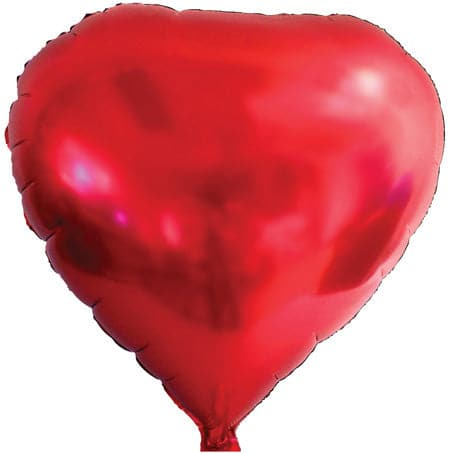 "18"" Red Heart Balloons 