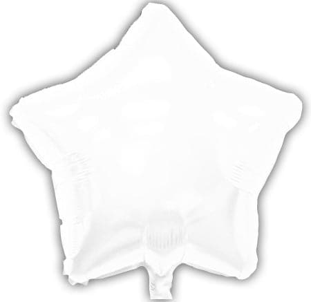 18 Inch White Star Balloons | 50 pc