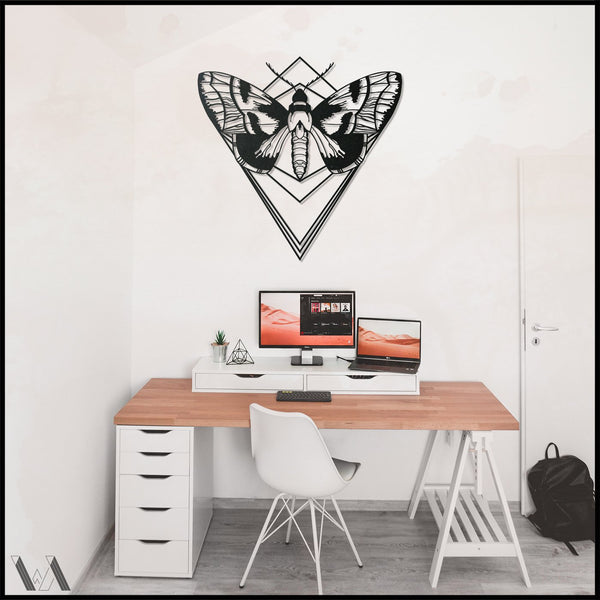 Butterfly - Black Metal Wall Art