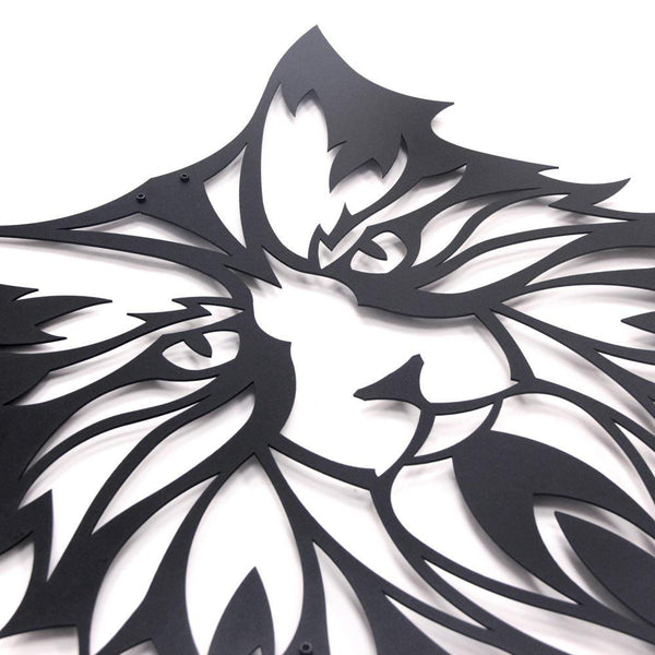 Cat Metal Wall Art - Black Metal Wall Art