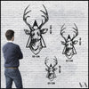 Deer v.3 - Black Metal Wall Art