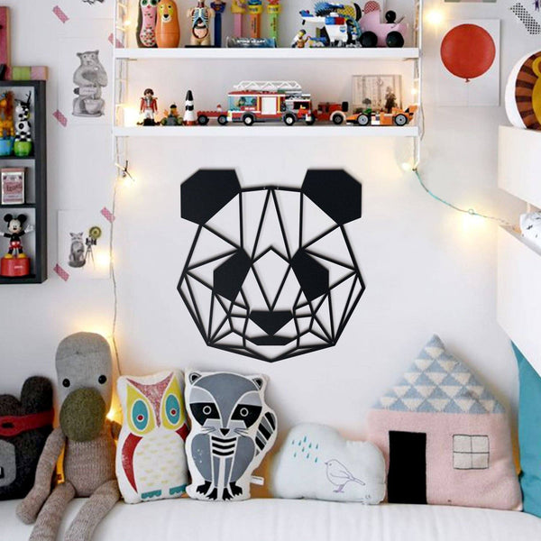 Panda Metal Wall Art - Black Metal Wall Art