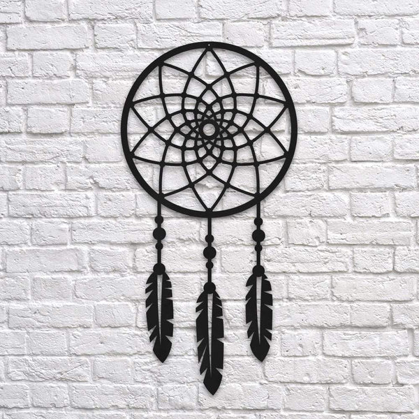 Dreamcatcher  Metal Wall Art - Black Metal Wall Art
