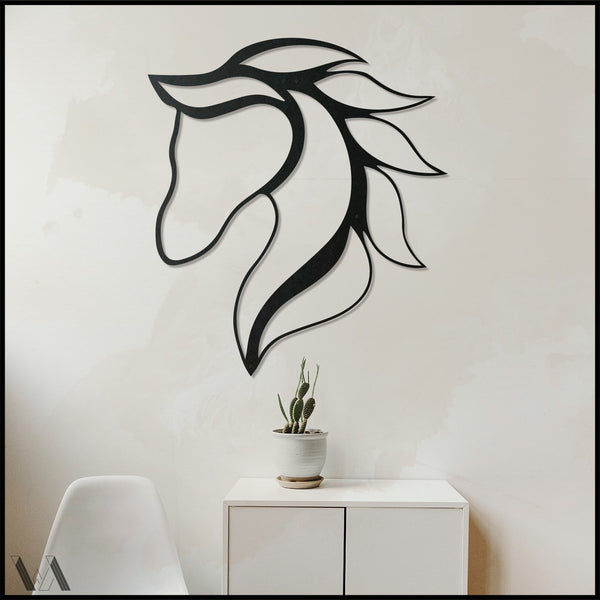 Equos v.1 - Black Metal Wall Art